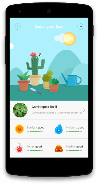 GreenFingers App Screen Home