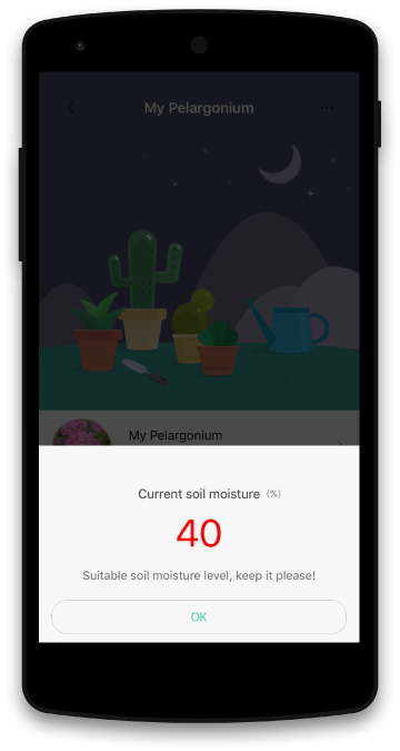 GreenFingers App Screen Real Time Monitor